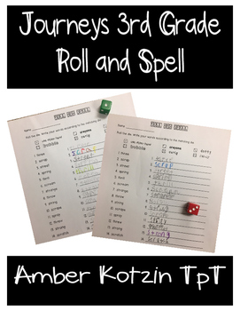 Journeys 3rd Grade Roll and Spell
