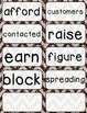 Journeys 3rd Grade Selection and Domain Vocab for Word Wall: Glitter Chevron
