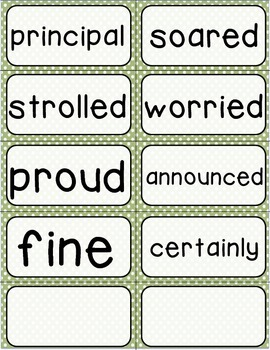 Journeys 3rd Grade Selection and Domain Vocab for Word Wall: Polka Dot