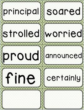 Journeys 3rd Grade Selection and Domain Vocab for Word Wall: Polka Dot