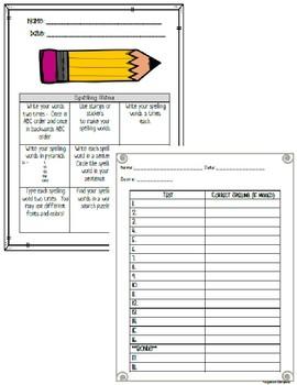 Journeys © 3rd Grade Spelling List & Word Search Bundle