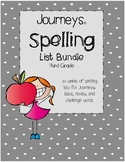Journeys © 3rd Grade Spelling List & Word Search Bundle