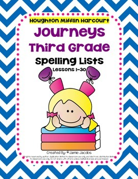 Journeys 3rd Grade - Spelling Lists