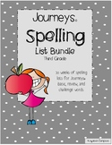 Journeys © 3rd Grade Spelling Lists