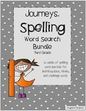 Journeys © 3rd Grade Spelling Word Searches