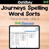 Journeys 3rd Grade Spelling Word Sort - Unit 3 - Seesaw Activity