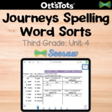 Journeys 3rd Grade Spelling Word Sort - Unit 4 - Seesaw Activity
