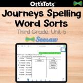 Journeys 3rd Grade Spelling Word Sort - Unit 5 - Seesaw Activity
