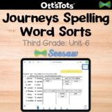 Journeys 3rd Grade Spelling Word Sort - Unit 6 - Seesaw Activity