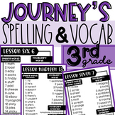 Journeys 3rd Grade Spelling Words with Vocab and Phonics