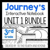 Journeys 3rd Grade UNIT 1 BUNDLE Less Cutting Interactive