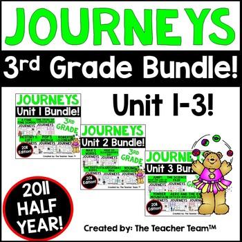 Journeys 3rd Grade Unit 1-2-3 Half Year Bundle Supplementa