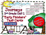 Journeys 3rd Grade Early Finishers Task Cards Unit 1 | 2011