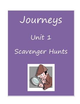 Journeys 3rd Grade Unit 1 Scavenger Hunt Worksheets