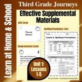 3rd Grade Journeys - Unit 1:  Effective Supplemental Materials