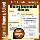 3rd Grade Journeys - Unit 1:  Effective Supplemental Materials