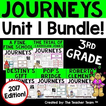 Journeys 3rd Grade Unit 1 Supplemental Activities & Printables 2017