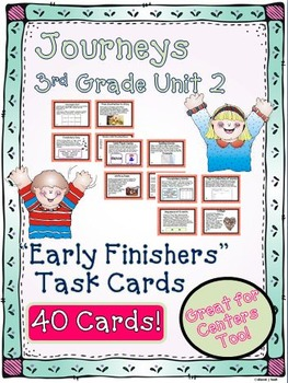 Journeys 3rd Grade Unit 2 Task Cards Supplemental Activities & Printables  2011