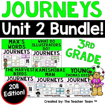 Journeys 3rd Grade Unit 2 Printables Bundle | 2011