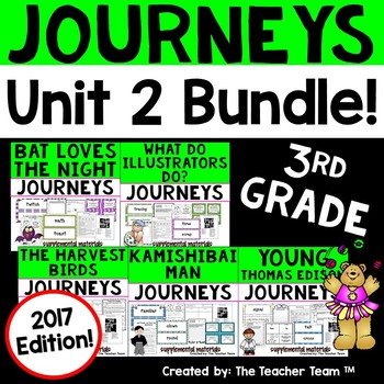 Journeys 3rd Grade Unit 2 Supplemental Activities and Printables 2017