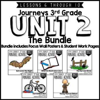 Journeys 3rd Grade Unit 2:  The Bundle