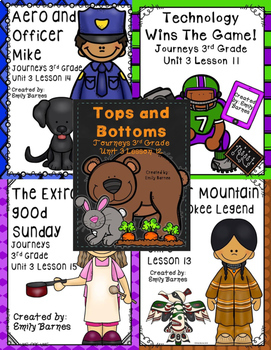 Journeys 3rd Grade Unit 3 Bundle Supplement Activities