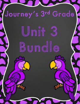 Journeys 3rd Grade Unit 3 Bundle Supplement Activities