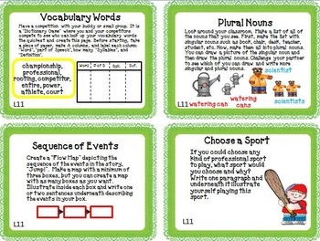 Journeys 3rd Grade Unit 3 Task Cards Supplemental Activities & Printables 2011