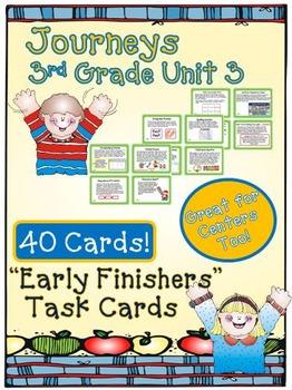 Journeys 3rd Grade Unit 3 Task Cards Supplemental Activities & Printables 2011