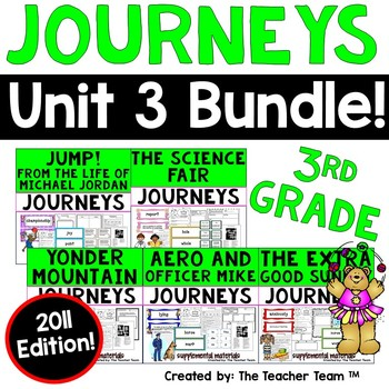 Journeys 3rd Grade Unit 3 Supplemental Activities & Printables 2011