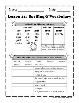Journeys 3rd Grade - Unit 3 Student Study Guides & Activities for Lessons 11-15