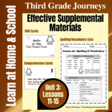 Journeys 3rd Grade - Unit 3 Student Study Guides & Activit
