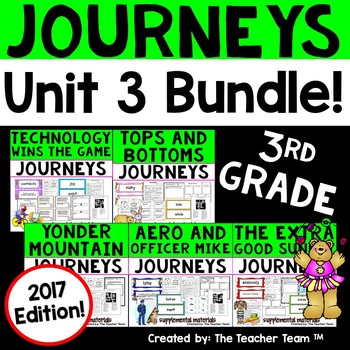 Journeys 3rd Grade Unit 3 Supplemental Activities & Printables 2017