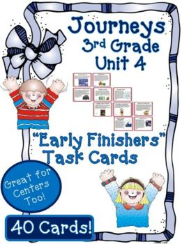 Journeys 3rd Grade Unit 4 Task Cards Supplemental Activities & Printables 2011