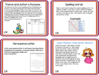 Journeys 3rd Grade Unit 4 Task Cards Supplemental Activities & Printables 2011