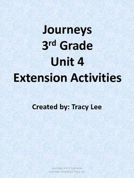 Journeys 3rd Grade Unit 4 Extension Activities