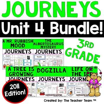 Journeys 3rd Grade Unit 4 Supplemental Activities & Printables 2011