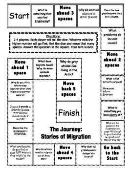 Journeys 3rd Grade Unit 5 Comprehension Game Boards