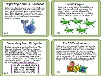 Journeys 3rd Grade Unit 5 Task Cards Supplemental Activities & Printables 2011