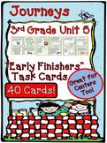Journeys 3rd Grade Unit 5 Task Cards Supplemental Activities & Printables 2011