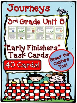 Journeys 3rd Grade Unit 5 Early Finishers Task Cards 2011