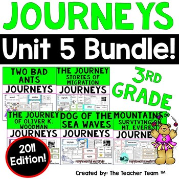 Journeys 3rd Grade Unit 5 Printables Bundle | 2011