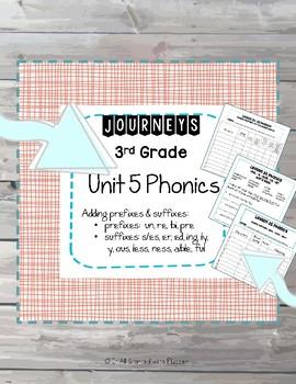 Journeys 3rd Grade, Unit 5 Phonics Word Work