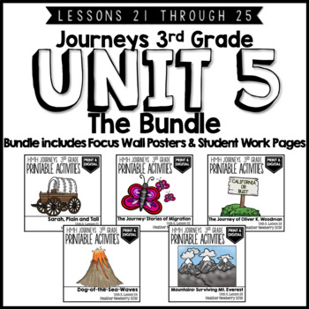 Journeys 3rd Grade Unit 5:  The Bundle