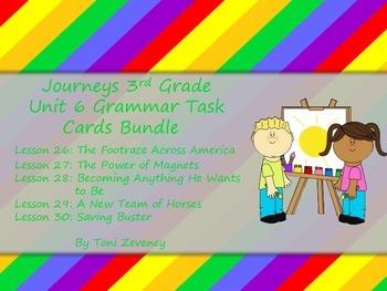 Journeys 3rd Grade Unit 6 Grammar Task Cards Bundle