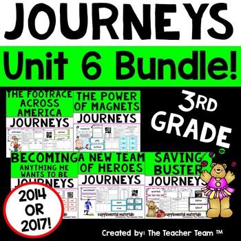 Journeys 3rd Grade Unit 6 Printables Bundle   2011