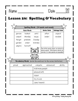 Journeys 3rd Grade - Unit 6 Student Study Guides & Activities for Lessons 26-30