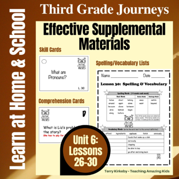 3rd Grade Journeys - Unit 6: Effective Supplemental Materials