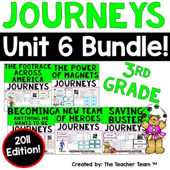 Journeys 3rd Grade Unit 6 Printable Activities Bundle 2011