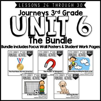 Journeys 3rd Grade Unit 6:  The Bundle